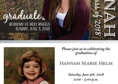 Hannah grad card