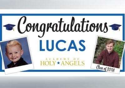 Lucas grad banner